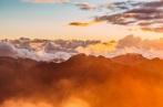 mountains orange